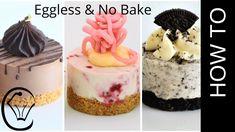 3 EASY Mini Cheesecakes No Bake Eggless Chocolate Raspberry Oreo Eggless Desserts, Mini Desserts, Cookie Desserts, No Bake Desserts, Delicious Desserts, Dessert Recipes, Easy No Bake Cheesecake, Mini Cheesecake Recipes, Homemade Cheesecake