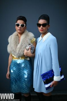60s in blue and sparkles