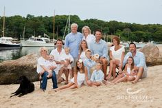 Falmouth large family beach portrait 1