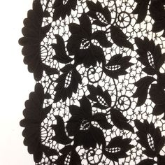 Black Vineyard Guipure French Venice Lace