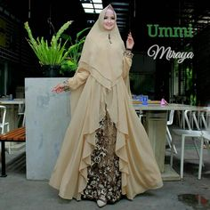 Super Ideas For Fashion Hijab Remaja Gemuk Niqab Fashion, Muslim Fashion, Fashion Wear, Fashion Dresses, Indian Gowns Dresses, African Print Dresses, Batik Muslim, Simple Long Dress, Muslim Long Dress