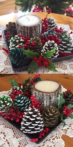 Christmas Ornament Crafts, Homemade Christmas, Rustic Christmas, Diy Christmas Gifts, Christmas Art, Christmas Projects, Christmas Holidays, Christmas Wreaths, Christmas Crafts