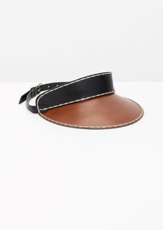 & Other Stories image 1 of Leather Visor in Tan