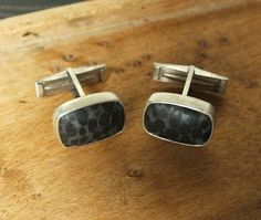 Hey, I found this really awesome Etsy listing at https://www.etsy.com/listing/152926931/black-oolite-cufflinks-oxidized-sterling