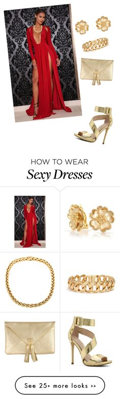 """""""Red and Gold"""" by omiqueonlife on Polyvore"""