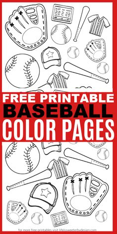 coloring pages - Baseball Color Pages Life is Sweeter By Design Baseball Coloring Pages, Sports Coloring Pages, Coloring Pages For Boys, Free Coloring Pages, Printable Coloring Pages, Baseball Activities, Baseball Crafts, Baseball Party, Uk Baseball