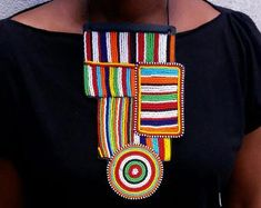 Maasai Beaded Statement Jewelry for the head-turners by AfricaZuri African Earrings, Tribal Earrings, Tribal Jewelry, Unusual Jewelry, Will Turner, Statement Jewelry, African Fashion, Gifts For Her, Etsy Seller
