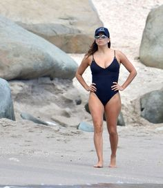 Eva Longoria At Easter Holiday at the Shellona Beach