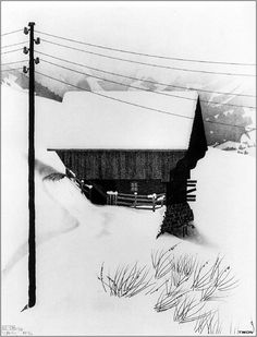 M. C. Escher - Snow, 1936