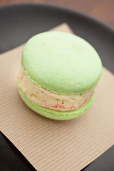 Strawberry-Macaron Ice-Cream Sandwich