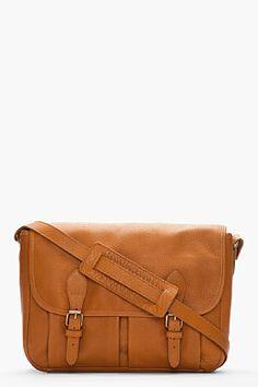 A.P.C. Camel brown pebbled leather stachel