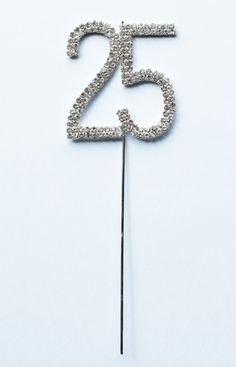 silver wedding anniversary party  ideas | Silver Diamante 25th Cake Decoration :: Party Kiosk