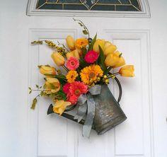 Craft, Interrupted: 5 for Friday ~ Fun Spring Door Decor Ideas!