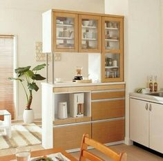 Modern Kitchen And Dining Room Partition Design Kitchen Room Design, Kitchen Cabinet Design, Dining Room Design, Interior Design Kitchen, Kitchen Dining, Kitchen Cabinets, Living Room Partition Design, Living Room Divider, Room Partition Designs
