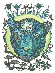 Mooncat is a creative project that highlights a leopard and her nighttime power. Original watercolour on Fabriano paper - also with t-shirt logo and web designs.