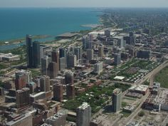 View from Willis Tower (442 meters tall) - Chicago, Illinois, United States