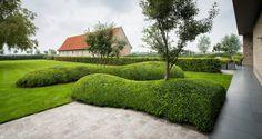Aangelegde tuinen door tuinonderneming Monbaliu - Landschapstuin rond Zuienkerse polder hoeve