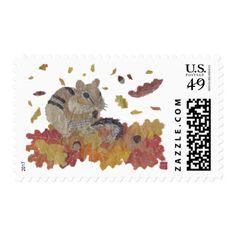 Thanksgiving, Autumn, Woodland, Chipmunk Postage