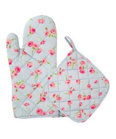 Take a look at this Blue Buds Oven Mitt & Pot Holder by Two Lumps of Sugar on #zulily today!