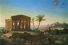 Temple of Concord (Agrigento, Sicily), 1857, by Leo von Klenze