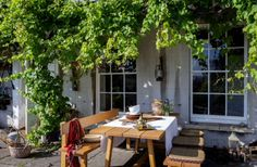 "This outside dining area is from our feature ""Bohemian Chic"""