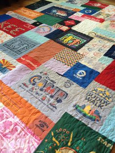 Custom twin size tshirt quilt for Sarah