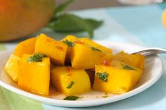 Warm Mango With Chile Agave