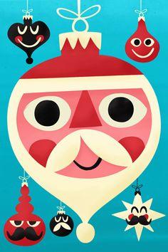 Pintachan - Noel Get some great retro Christmas iPod/Phone/Pad wallpapers here Noel Christmas, Modern Christmas, Vintage Christmas Cards, Retro Christmas, Vintage Cards, Christmas Themes, Xmas, Christmas Pillow, Illustration Arte