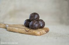 Chocolate-Almond-Coconut Protein Balls (no bake).   This recipe is modified from the original (Paleo, GF & Vegan), which is here:  http://www.rachelswellness.com/blog/2012/11/paleo-gluten-free-almond-butter-chocolate-protein-balls-raw-vegan-plus-guilt-free