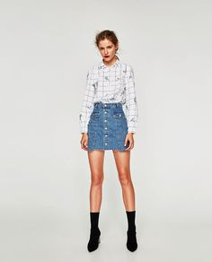 ZARA - WOMAN - EMBROIDERED CHECKED SHIRT