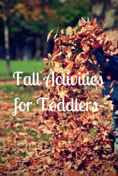 Fall Activities for Toddlers :http://www.mommaandthepea.com/fall-activities-for-toddlers/