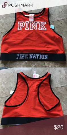 New vs pink sports bra Brand New with tags vs pink unlined sports bra. price is firm no trades! PINK Victoria's Secret Intimates & Sleepwear