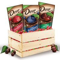 Easter Gift Guide 2015: @DoveChocBrand Covered Fruit: Real Fruit Dipped in DOVE Dark #Chocolate comes in three varieties of real fruit - cranberry, cherry and blueberry.