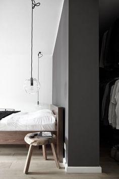Dormitorio con vestidor.