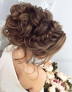 Half-updo, Braids Updo Wedding Hairstyles