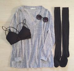 Cute and simple I would probably wear black tights or leggings rather then the knee socks though