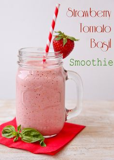 Strawberry-Tomato-Basil Smoothie