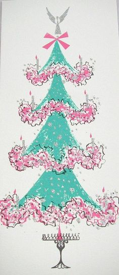 Lovely Vintage Christmas Tree (the Christmas tree of my animated life's dream)