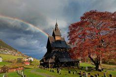 Hopperstad Stave church, Vik, Norway ----  Piercing the Storm by John & Tina Reid, via Flickr