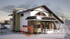 Casa cu etaj 54 | Proiecte de case personalizate | Arhitect Gabriel Georgescu & Echipa Modern House Facades, Facade House, Design Case, House Plans, House Design, How To Plan, Mansions, House Styles, Building