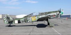 """"""" Yellow the only Focke-Wulf 190 in the world. The pinnacle of the 190 series aircraft before transitioning to the this belonged to JG In May of this. Ww2 Aircraft, Fighter Aircraft, Military Aircraft, Fighter Jets, Luftwaffe, Raf Bases, Focke Wulf 190, Ww2 Planes, War Machine"""