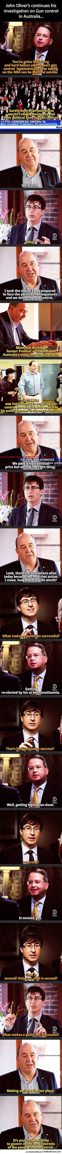 The Difference Between American And Australian Politicians//// pinning for Australian awesomeness.