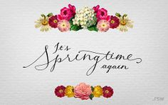 Welcome Back, Spring! Flowers are popping up everywhere, so why not your desktop? Download Wallpaper at www.rswcreative.com/downloads#Wallpapers