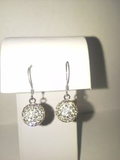 Vines of Jewels - Crystal Ball (10mm) Sterling Silver Sparkle Earrings, $14.00 (http://www.vinesofjewels.com/products/crystal-ball-10mm-sterling-silver-sparkle-earrings.html) perfect bride and/or bridesmaid earring