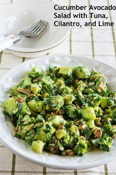 Cucumber Avocado Tuna Salad