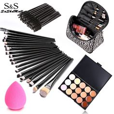 73Pcs Set Cosmetic Face Brushes Set With Bag => Save up to 60% and Free Shipping => Order Now! #fashion #product #Bags #diy #homemade