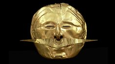 Mask with nose ornament, Quimbaya, gold alloy, 500 BC–AD 1600