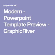Modern - Powerpoint Template Preview - GraphicRiver