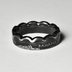 Coin Ring  Bahamas  10 Cents  This ring ships with a coin fact sheet that describes every detail of the coin used Size 5 1/2 by TheRingTree on Etsy, $34.50