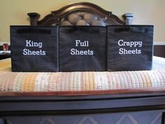Gifts - Using Your Way Cubes for sheet storage.Thirty-One Gifts - Using Your Way Cubes for sheet storage. Thirty One Organization, Closet Organization, Organization Ideas, Storage Ideas, Organizing Solutions, Organization Station, Storage Solutions, Thirty One Party, Thirty One Gifts